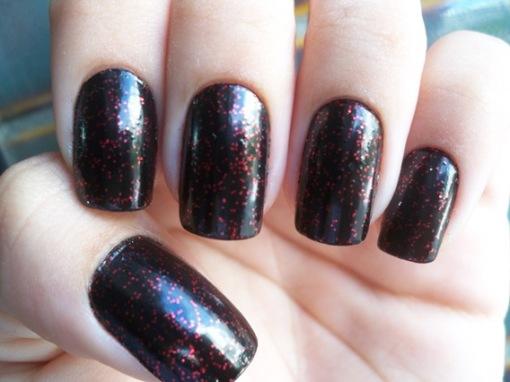 black glittervermelho